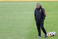 May 30, 2018 - Lisbon, Portugal - Portugal's head coach Fernando Santos looks on during a training session at Cidade do Futebol (Football City) training camp in Oeiras, outskirts of Lisbon, on May 30, 2018, ahead of the FIFA World Cup Russia 2018 preparation matches against Belgium and Algeria...........during the Portuguese League football match Sporting CP vs Vitoria Guimaraes at Alvadade stadium in Lisbon on March 5, 2017. Photo: Pedro Fiuzaduring the Portugal Cup Final football match CD Aves vs Sporting CP at the Jamor stadium in Oeiras, outskirts of Lisbon, on May 20, 2015. (Credit Image: © Pedro Fiuza/NurPhoto via ZUMA Press)