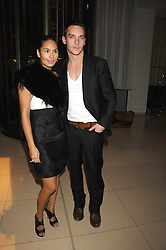 JONATHAN RHYS MEYERS and REENA HAMMER at 'Not Another Burns Night' in association with CLIC Sargebt and Children's Hospice Association Scotland held at ST.Martins Lane Hotel, London on 3rd March 2008.<br />