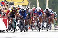 Arrival sprint, Dylan Groenewegen (NED - Team LottoNL - Jumbo), Fernando Gaviria (COL - QuickStep - Floors), Arnaud Demare (FRA - Groupama - FDJ) during the 105th Tour de France 2018, Stage 7, Fougeres - Chartres (231km) on July 13th, 2018 - Photo Luca Bettini / BettiniPhoto / ProSportsImages / DPPI
