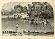 Bathing-Place of Pilgrims on the Jordan From the book 'Those holy fields : Palestine, illustrated by pen and pencil' by Manning, Samuel, 1822-1881; Religious Tract Society (Great Britain) Published in 1874