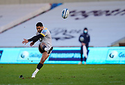 Wasps full back Lima Sopoaga kicks a penalty during the Gallagher Premiership Rugby match Sale Sharks -V- Wasps  at The AJ Bell Stadium, Greater Manchester, England United Kingdom, Sunday, December 27, 2020. (Steve Flynn/Image of Sport)