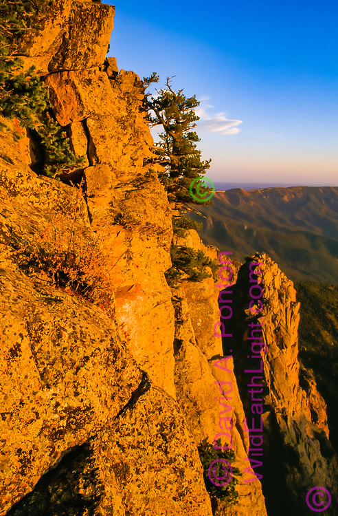 Rugged face of the Sandia Mountains, Sandia Mountain Wilderness, New Mexico