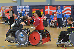 France V Germany at the 2016 IWRF Rio Qualifiers, Paris, France