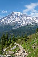 Pinnacle Peak Trail at Pinnacle saddle. Mount Rainier National Park Washington