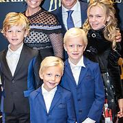 NLD/Utrecht/20170921 - Premiere Kuyt, Gertrude Kuyt - van Vuren, partner Dirk Kuyt en kinderen Noelle, Roan Dirk, Jordan, Aidan