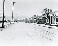 1/22/1921 Snow at Charles Chaplin Studio on La Brea Ave