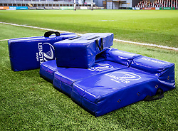 A general view of Leinster tackle pads<br /> <br /> Photographer Simon King/Replay Images<br /> <br /> Guinness PRO14 Round 10 - Dragons v Leinster - Saturday 1st December 2018 - Rodney Parade - Newport<br /> <br /> World Copyright © Replay Images . All rights reserved. info@replayimages.co.uk - http://replayimages.co.uk
