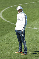 March 15, 2019 - Madrid, Madrid, Spain - Zinedine Zidane (coach; Real Madrid) during a training session at the Valdebebas training facilities on March 15, 2019 in Madrid, Spain (Credit Image: © Jack Abuin/ZUMA Wire)