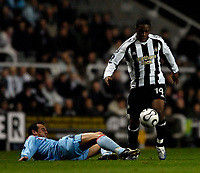 Photo: Jed Wee.<br /> Newcastle United v Celta Vigo. UEFA Cup. 23/11/2006.<br /> <br /> Newcastle's Charles N'Zogbia attacks.