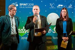 Damijan Lazar  during Award ceremony at Day 4 of 15th Slovenia Open - Thermana Lasko 2018 Table Tennis for the Disabled, on May 12, 2018, in Dvorana Tri Lilije, Lasko, Slovenia. Photo by Vid Ponikvar / Sportida