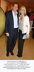 HUGO & BEATRICE WARRENDER at a party in London on 7th July 2004.PXA 47