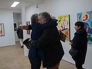 CLAUDE WEBER; CARLOS PUENTE; ANDREA PUENTE, Piers Secunda, and Carlos Puente launch event previewing their exhibitions, Shadows of Spain and Circling Skies. Olympus Art Bermondsey Project Space, Bermondsey St. London. 1 March 2016