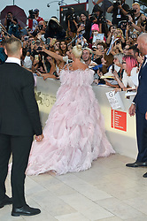 Red carpet arrivals, Bradley Cooper and Lady Gaga walk the red carpet ahead of the 'A Star Is Born Red' screening during the 75th Venice Film Festival at Sala Grande on August 31, 2018<br /><br />31 August 2018.<br /><br />Please byline: Vantagenews.com