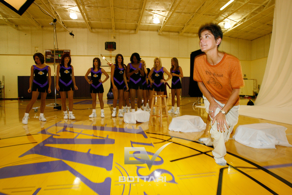 EL SEGUNDO - AUGUST 23: The Los Angeles Laker Girls pose for dance team photos on August 23, 2006 at the Toyota Training Center in El Segundo, California.  NOTE TO USER: User expressly acknowledges and agrees that, by downloading and/or using this Photograph, user is consenting to the terms and conditions of the Getty Images License Agreement. Mandatory Copyright Notice: Copyright 2006 NBAE (Photo by Jeff Bottari/NBAE via Getty Images)