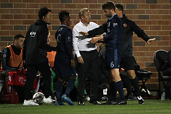 October 7, 2017 - Minneapolis, MN, USA - Minnesota United head coach Adrian Heath clashes with Sporting Kansas City midfielder Ilie Sanchez (6) on the sidelines in the first half on Saturday, Oct. 7, 2017, at TCF Bank Stadium in Minneapolis. The teams tied, 1-1. (Credit Image: © Anthony Souffle/TNS via ZUMA Wire)