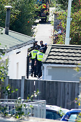 ©Licensed to London News Pictures 10/09/2020  <br /> Orpington, UK. Police continue to search a traveller site in Orpington, South East London today after one of the biggest armed police operations in the UK. The site and local roads are under Met police control with a large cordon in place. Photo credit:LNP
