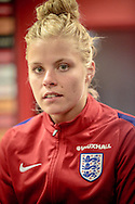 Rachel Daly (England) after the International Friendly match between England Women and France Women at the Keepmoat Stadium, Doncaster, England on 21 October 2016. Photo by Mark P Doherty.