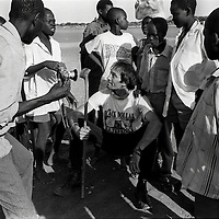 Kevin Carter at Lokichokio, northern Kenya, 1993. (pic  Joao Silva)