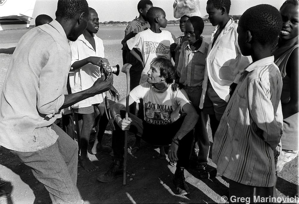 Kevin Carter at Lokichokio, northern Kenya, 1993. (pic  Joao Silva)