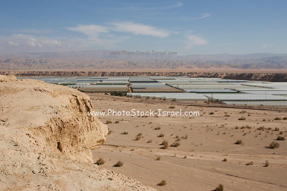 Desert Farming - greenhouses in the desert, Arava, Israel