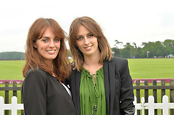 Left to right, LADY VIOLET MANNERS and LADY ALICE MANNERS at the Cartier Queen's Cup Polo final at Guard's Polo Club, Smiths Lawn, Windsor Great Park, Egham, Surrey on 14th June 2015