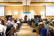 Regatta Chairman and SEAS Manager, Matt Wiezerbach, speaking at the 2018 Para Sailing World Championship, Sheboygan, Wisconsin, USA. Over 90 competitors from 39 nations in three classes — Hansa 303, 2.4m OD, and RS Venture — competing from 18 September to 22 September 2018. The host, Sail Sheboygan & SEAS, is located on the water of Lake Michigan, the fourth largest fresh water lake in the world.