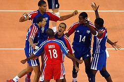 29-05-2004 VOLLEYBAL: OLYMPISCH KWALIFICATIE TOURNOOI NEDERLAND - CUBA: MADRID<br /> Nederland verslaat Cuba met 3-1 - Vreugde bij Cuba<br /> Copyrights 2004-www.fotohoogendoorn.nl