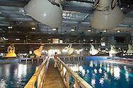JPN, Japan: Okinawa Churaumi Aquarium, Technische Galerie oberhalb des groessten Tanks, des Kuroshio Meeres, Ocean Expa Park, Okinawa, Okinawa | JPN, Japan: Okinawa Churaumi Aquarium, technical gallery above largest tank, the Kuroshio ocean, Ocean Expo Park, Okinawa, Okinawa |