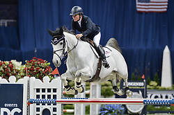 October 25, 2017 - Washington, DC, U.S - American LESLIE BUR-HOWARD, riding Donna Speciale, competes in the International Jumper 1.45m Time First Round held at the Capital One Arena in Washington, DC. (Credit Image: © Amy Sanderson via ZUMA Wire)