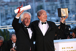 Closing Ceremony Awards Photocall - The 72nd annual Cannes Film Festival in Cannes, France, on May 25, 2019. 25 May 2019 Pictured: Jean-Pierre Dardenne and Luc Dardenne attend the Awards photocall during the 72nd annual Cannes Film Festival in Cannes, France, on May 25, 2019. Photo credit: Favier/ELIOTPRESS / MEGA TheMegaAgency.com +1 888 505 6342