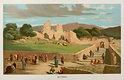 Coloured Illustration of the Village of  Bethany from the book Palestine illustrated by Sir Richard Temple, 1st Baronet, GCSI, CIE, PC, FRS (8 March 1826 – 15 March 1902) was an administrator in British India and a British politician. Published in London by W.H. Allen & Co. in 1888