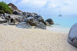 Spring Bay mit Felsbloecke, Spring bay with boulder, Insel Virgin Gorda, Britische Jungferninsel, Karibik, Karibisches Meer, Virgin Gorda Island, British Virgin Islands, BVI, Caribbean Sea