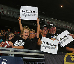 23.07.2016, Woertersee Stadion, Klagenfurt, AUT, AFL, Austrian Bowl XXXII, Swarco Raiders Tirol vs Projekt Spielberg Graz Giants, im Bild Raiders Fans // during the Austrian Football League Austrian Bowl XXXII game between Swarco Raiders Tirol vs Swarco Raiders Tyrol at the Woertersee Stadion, Klagenfurt, Austria on 2016/07/23. EXPA Pictures © 2016, PhotoCredit: EXPA/ Thomas Haumer