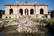 Terme del Corallo or Acque della salute.The ballroom seen from the central fountain