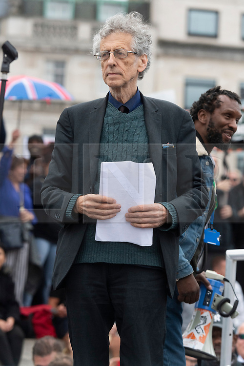 © Licensed to London News Pictures. 30/08/2020. London, UK. PIERS CORBYN the brother of former Labour Party leader Jeremy Corbyn has been fined £10,000 in London for illegal gatherings after he organised march claiming Covid is a hoax. The 73-year-old meteorologist led more than 10,000 anti-lockdown protesters who believe coronavirus is a hoax at the 'Unite for Freedom' rally in Trafalgar Square on Saturday. Photo credit: London News Pictures