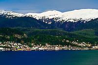 Aerial view, Ketchikan, Southeast Alaska USA