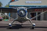1934 Stinson Reliant SR-5E running up at Oregon Aviation Historical Society.