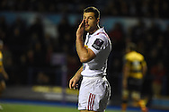 Tim Visser of Harlequins looks on.European Rugby challenge cup match, Cardiff Blues v Harlequins at the BT Sport Cardiff Arms Park in Cardiff, South Wales onThursday 19th November 2015. pic by Andrew Orchard, Andrew Orchard sports photography.
