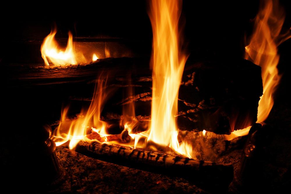A chimney fire..