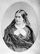 Susan B. Anthony  1865.  A prominent American civil rights leader who played a pivotal role in the 19th century women's rights movement to introduce women's suffrage into the United States.