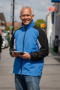 Lead London Member of European Parliament MEP candidate for the Brexit Party and CEO of First Property Group Plc, Ben Habib canvasses for the upcoming European elections on the street in Dagenham Heathway, London, England on May 04, 2019.  Britain must hold European elections on May 23 or leave the European Union with no deal on June 01 after Brexit was delayed until  October 31 2019 after Prime Minister, Theresa May failed to get her Brexit deal approved by Parliament.