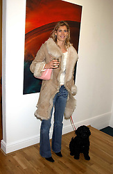 AMARYLLIS MACINTYRE and her dog Lennox at an exhibition of art by Jeffrey Kroll entitled Imirage held at the Arndean Gallery, Cork Street, London on 19th October 2005.<br /><br />NON EXCLUSIVE - WORLD RIGHTS