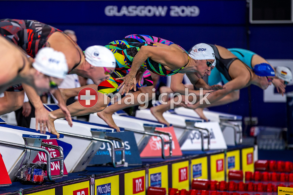 Melanie HENIQUE of France on her way winning in the women's 50m Butterfly Final during the 20th LEN European Short Course Swimming Championships in Glasgow, Great Britain, Thursday, Dec. 5, 2019. (Photo by Patrick B. Kraemer / MAGICPBK)