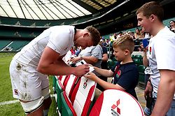 Nick Isiekwe of England signs autographs after training at Twickenham ahead of the upcoming tour of Argentina - Mandatory by-line: Robbie Stephenson/JMP - 02/06/2017 - RUGBY - Twickenham - London, England - England Rugby Training