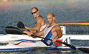 20040828 Olympic Games Athens Greece .[Canoe/Kakak Flatwater Racing] .Lake Schinias - Saturday Finals day.GBR Men's K1 Bronze medal winner Ian Wynne..Photo  Peter Spurrier.email images@intersport-images.com...