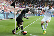 Victor Moses of Chelsea keeps the ball in play.  Premier league match, Swansea city v Chelsea at the Liberty Stadium in Swansea, South Wales on Sunday 11th Sept 2016.<br /> pic by  Andrew Orchard, Andrew Orchard sports photography.