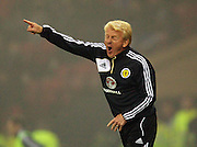 15.10.2013 Glasgow, Scotland  Scotland manager Gordon Strachan during the Fifa World Cup 2014 Group A Qualifer between Scotland and Croatia, from Hampden Park.