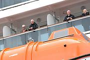 Koningin Maxima doopt het cruiseschip ms Koningsdam van Holland America Line in Rotterdam.<br /> <br /> Queen Maxima at the cruise ship ms Koningsdam Holland America Line in Rotterdanm for namen the ship.