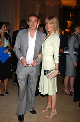 MR JACOBI ANSTRUTHER-GOUGH-CALTHORPE and LADY EMILY COMPTON at a evening to celebrate the unveiling of the British Luxury Club at The Orangery, Kensington Palace, London W8 on 16th September 2004.<br />