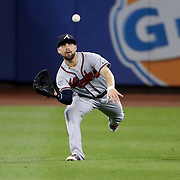 NEW YORK, NEW YORK - SEPTEMBER 26:  Ender Inciarte #11 of the Atlanta Braves makes a catch in center field during the Atlanta Braves Vs New York Mets MLB regular season game at Citi Field, Flushing, Queens, on September 26, 2017 in New York City. (Photo by Tim Clayton/Corbis via Getty Images)